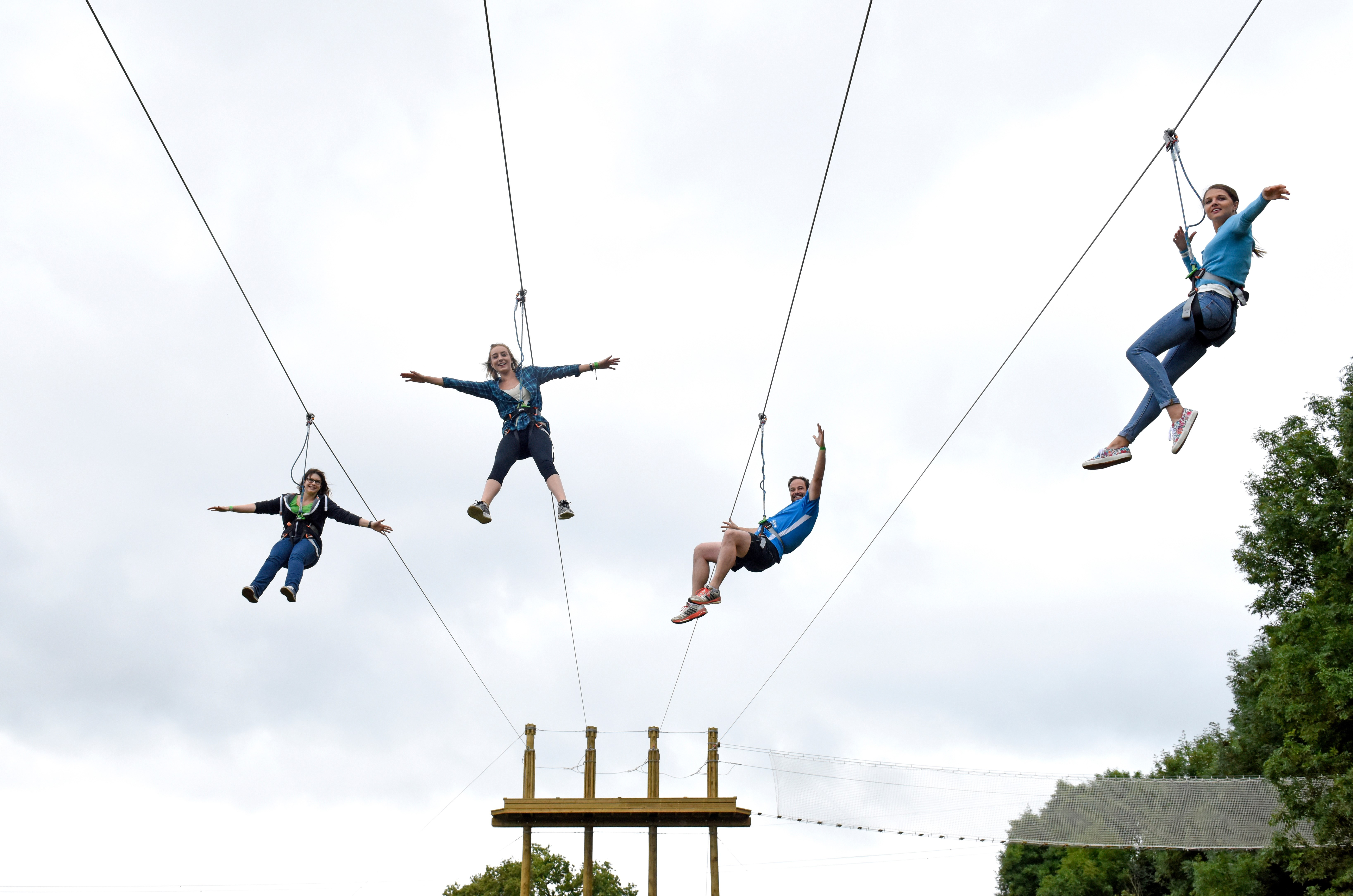 Four Man Zip Go Ape At Chessington World Of Adventures Resort (5)