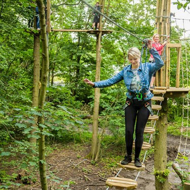 Tree Top Hopping On Go Ape At Chessington World Of Adventures Resort