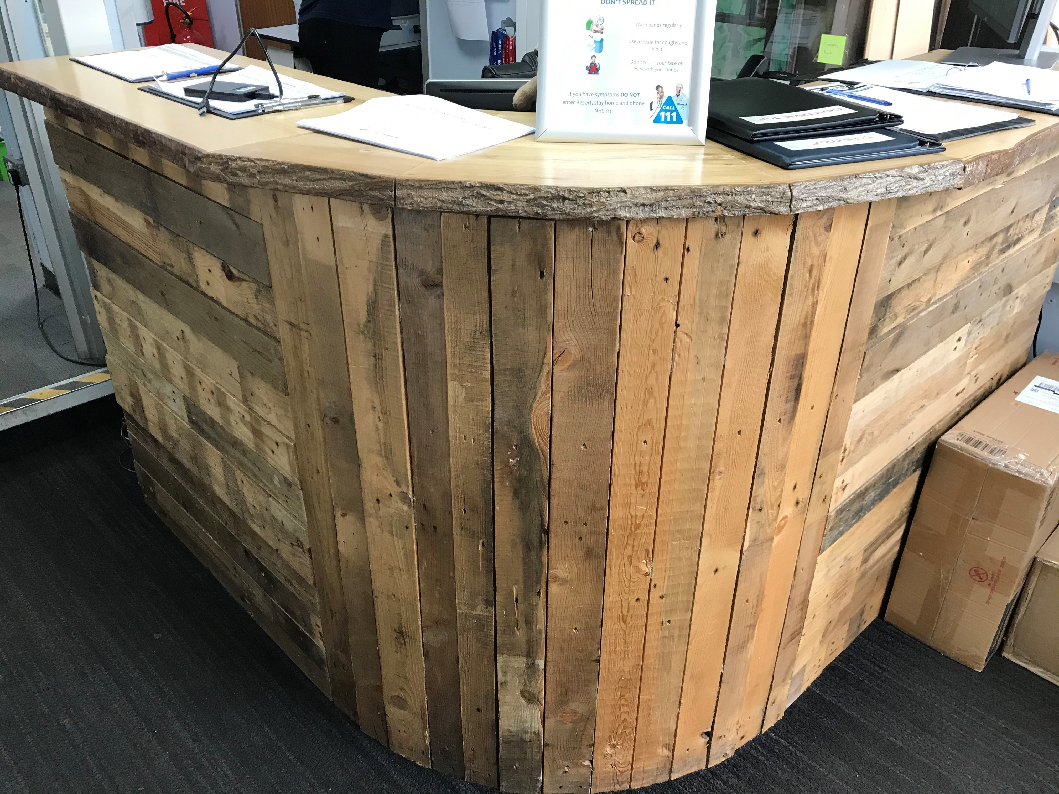 Wooden Desk Recycled